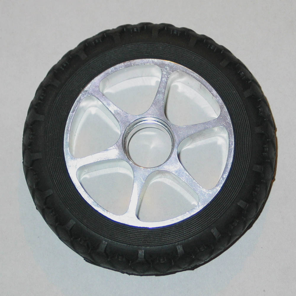 KICKBOARD-WHEELS-ALUMINIUM-GUMMI-110-mm-STUNT-SCOOTER-BOBBY-CAR-TUNING-usw